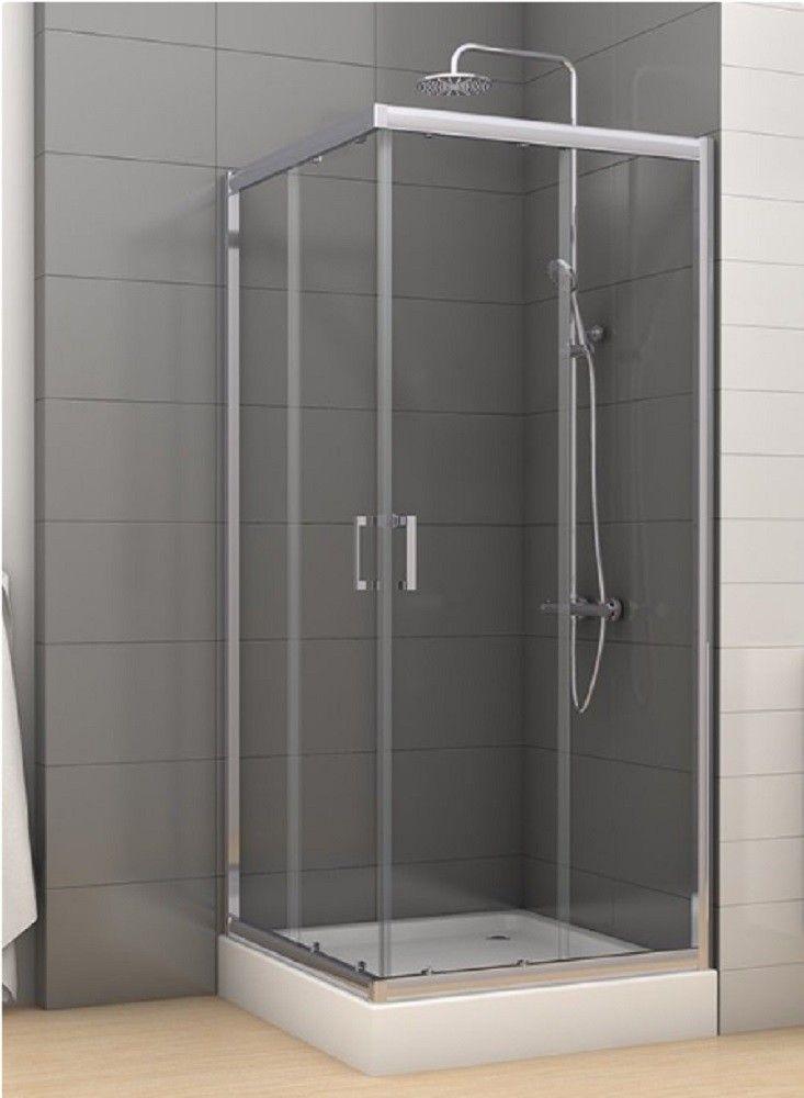 Quadratische Duschkabine Mit Klarglas New Trendy Varia 80x90x190cm