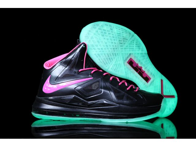 new concept 948c1 3ca85 ... Nike Zoom Lebron 10 X Luminous Limited Edition Shoes BlackPink ...