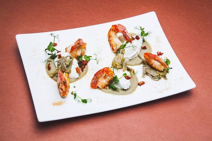 Un'altra proposta del nuovo menù! ~ Code di gamberi grigliate, carciofi e ricotta ~#Tobias #Restaurant #Pizza #Food #Drink #Tartare�...