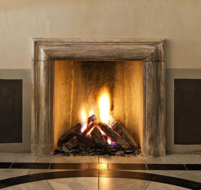 140 best images about stone fireplaces on pinterest - Chimeneas de ladrillo ...