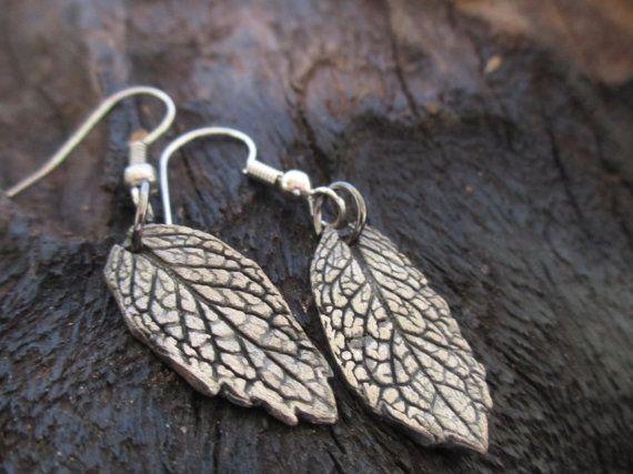Leaf Metal Clay Jewellery by KemeJewellery