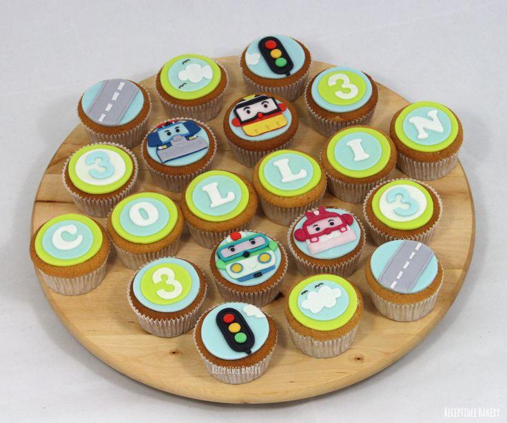 Robocar poli  . #robocarpoli #netflixserie #kinderserie #verjaardag #birthday #cake #vanilla #fondant #cupcakes #helikopter #police #truck #firetruck #brandweerauto