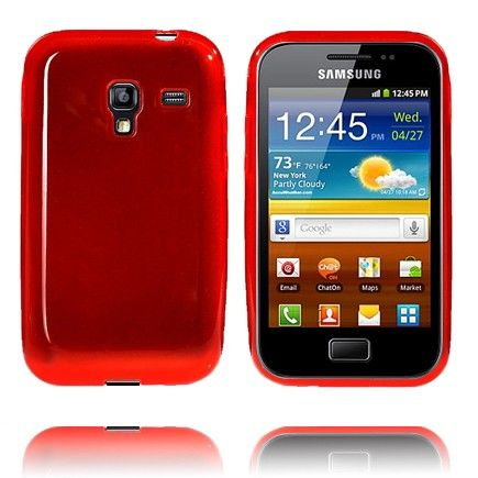 Soft Shell Transparent (Rød) Samsung Galaxy Ace Plus Cover