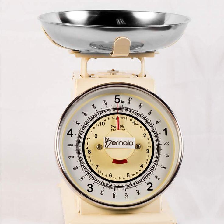 $89.900 Balanza Mecánica de Cocina con Plato en Acero Inoxidable y Capacidad de 5Kg y 0.8l.