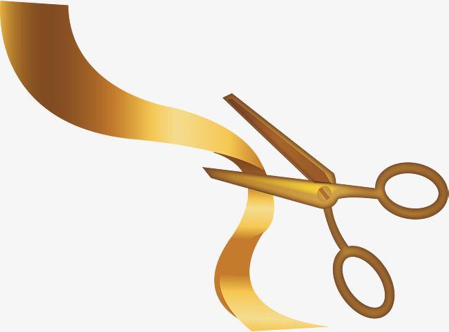 Golden Scissors Ribbon Png And Vector Tesoura Fitas Adesivos