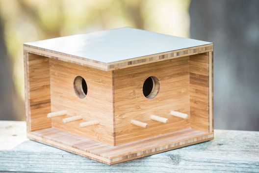 These Modernist Birdhouses are Inspired by Famous Architects,Bauhaus Birdhouse. Image via Sourgrassbuilt.com