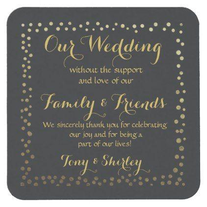 personalised Favor wedding coaster Thank you - thank you gifts ideas diy thankyou