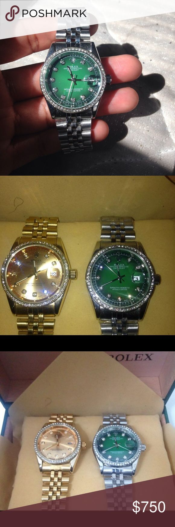Rolex combo box One watch is gold and one silver brand new we can negotiate prices. Rolex Accessories Watches