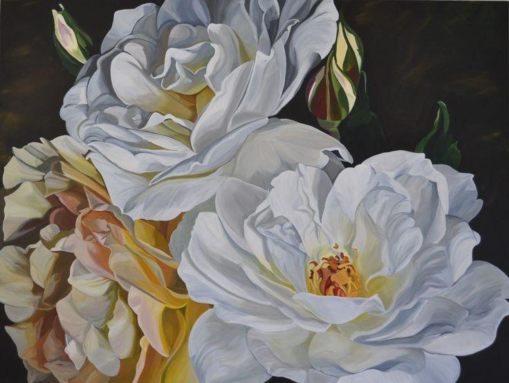 'Baroque Roses' 120 x 90 cm