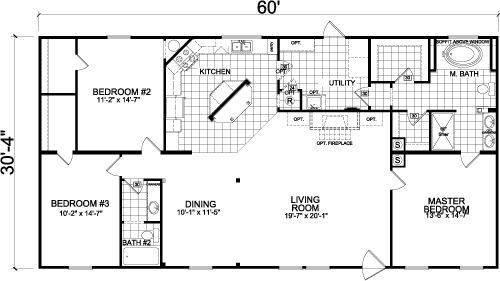 Homes of Merit; 1800 sq ft; 3/2 Open plan; all wal…