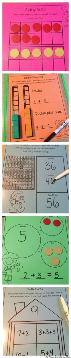Write and Wipe Math Mats for First Grade $