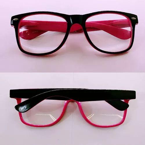 armação óculos de grau feminino pink com preto promoção