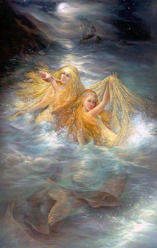 Beaux  tableaux de Nadezhda Strelkina   mermaids.............lbxxx.