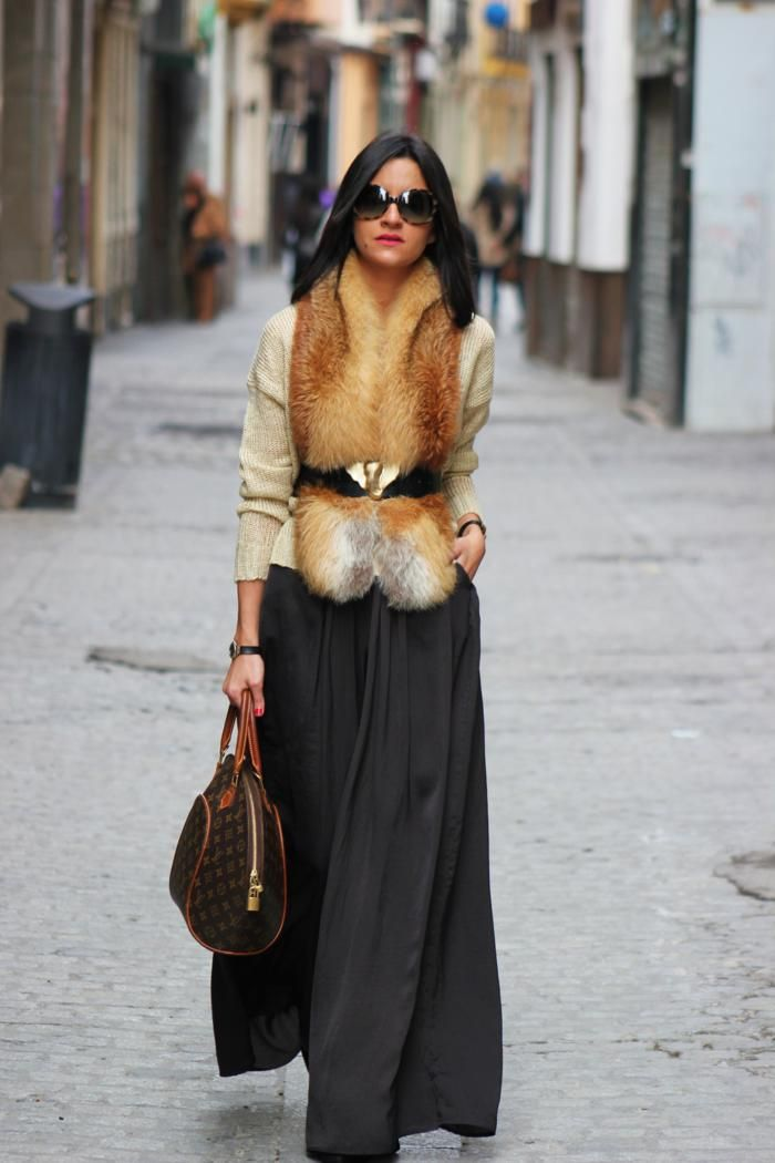 Wear a maxi dress for Winter - just be wary of too much volume around the waist/hips.