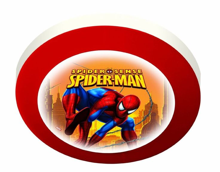 Magic Light Spiderman Childs Childrens Bedroom Round Wall Ceiling Light  | eBay