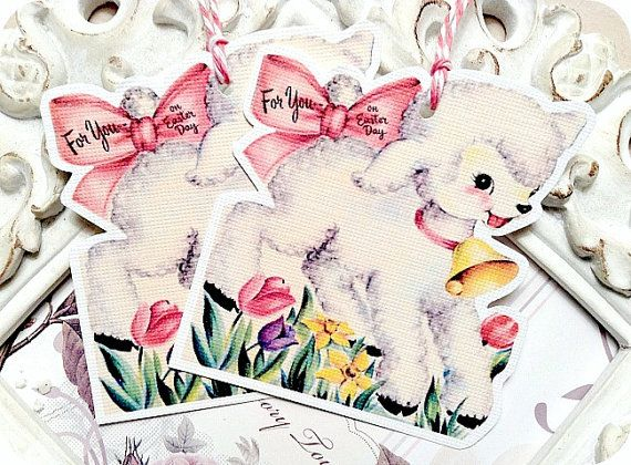 46 best mary had a little lamb images on pinterest baby sheep happy easter gift tags lamb gift tags easter favor tag easter treat tag shabby easter tag easter lamb die cut gift bag tags tags for kid negle Images