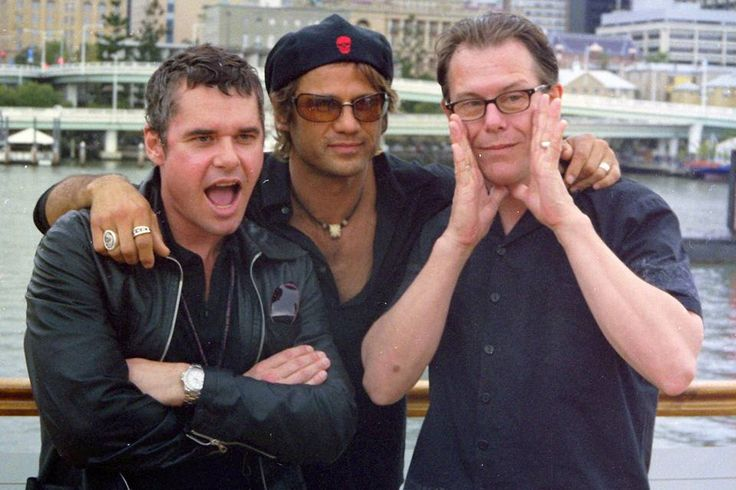 Jon Farriss, Jon Stevens & Kirk Pengilly
