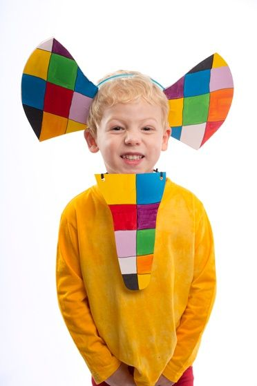 Make your own colourful Elmer the patchwork elephant costume, just in time for World Book Day: http://gu.com/p/45y96/stw#img-21