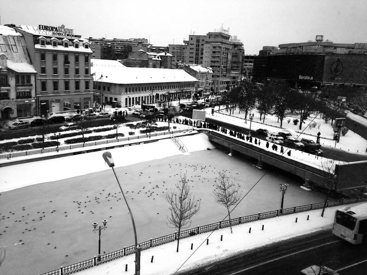 Bucharest. black and white