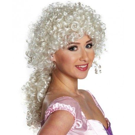 Perruque bouclée blond platine femme