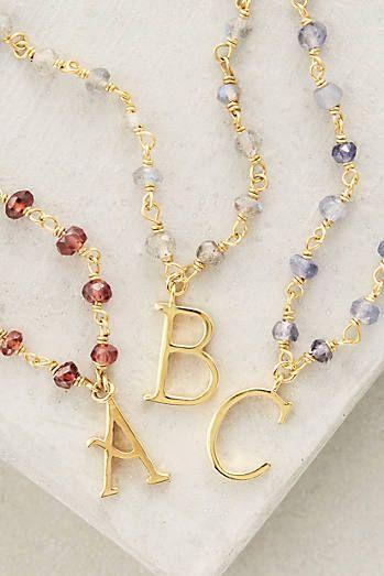 Mineralia Monogram Necklace
