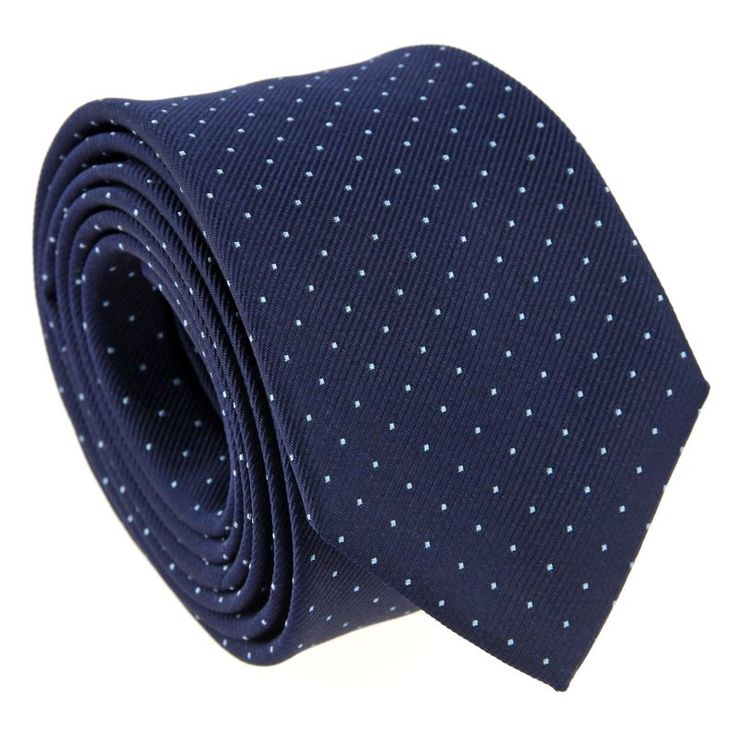 29€ - Cravate bleu marine à pois orange - Washington II