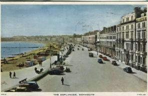 Raphael Tuck Postcard - The Esplanade, Weymouth - WYH21