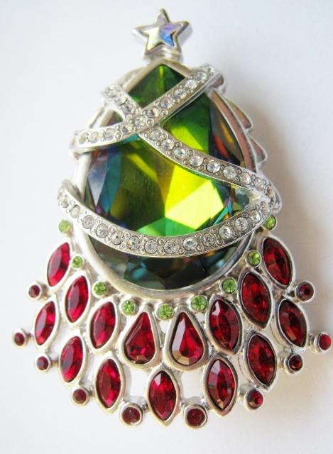 Rare Swarovski Christmas Tree Pin