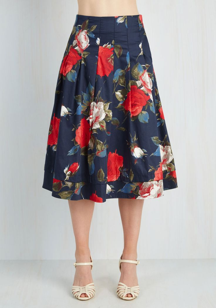 beach hats for women Greenhouse Grandeur Skirt in Navy