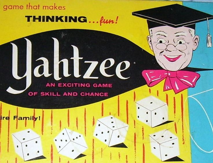 vintage yahtzee game - my favorite -i still play
