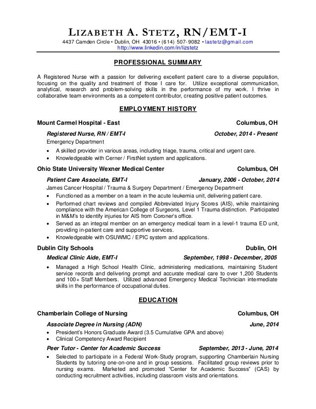 Great sample resume