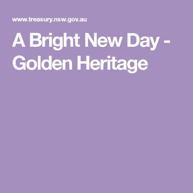 A Bright New Day - Golden Heritage