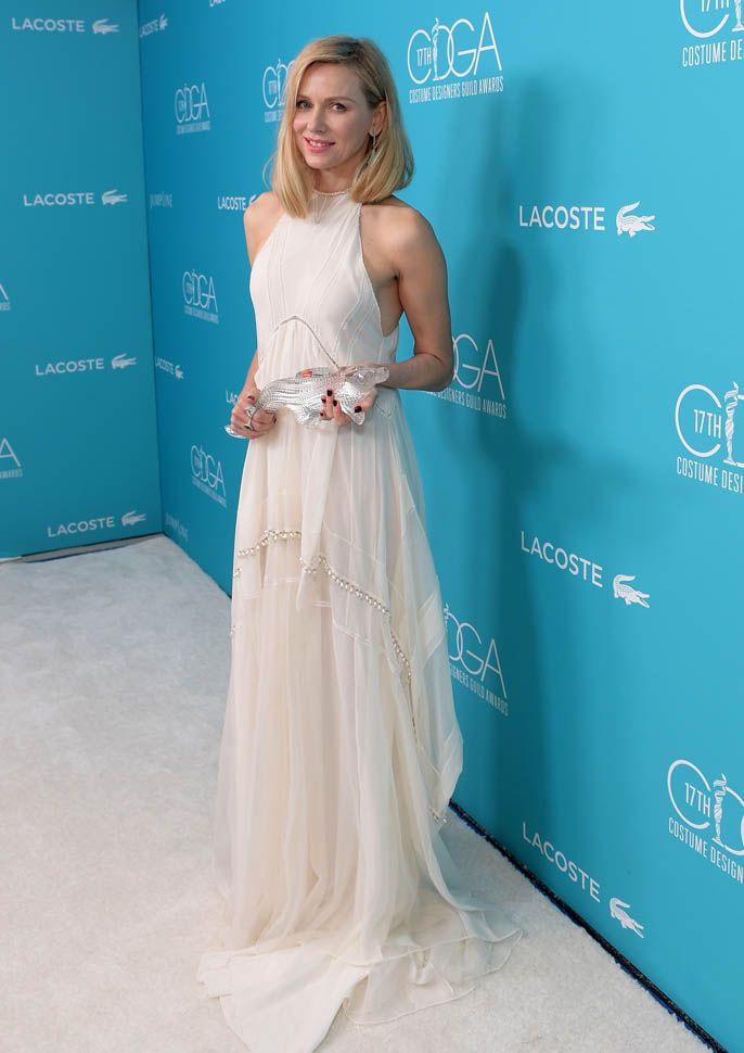 Carpets & Candids: Naomi Watts's 2 white dresses|Lainey Gossip Lifestyle