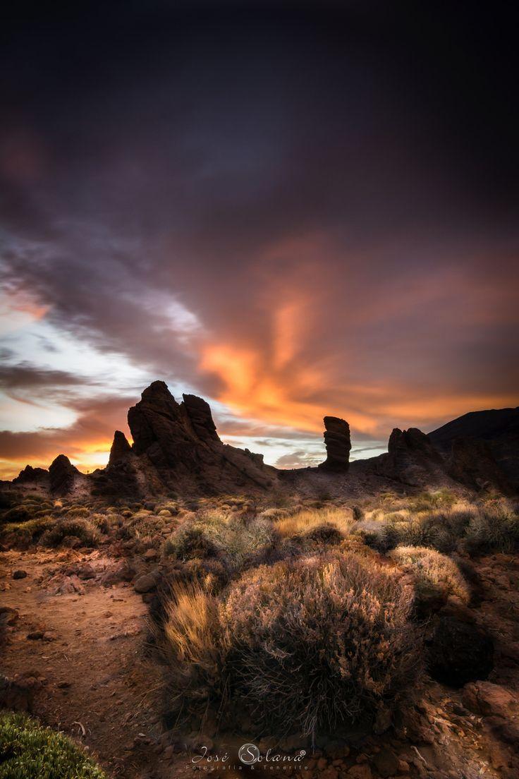 Sunset in National Park El Teide - Spain