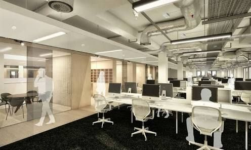 Image result for exposed ceiling office