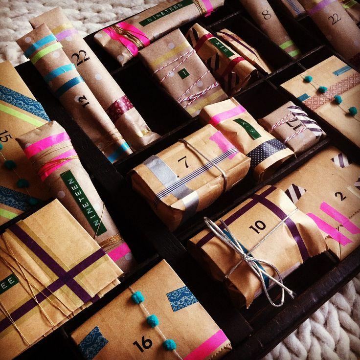 Advent calendar * washi tape * dymo * letraset *