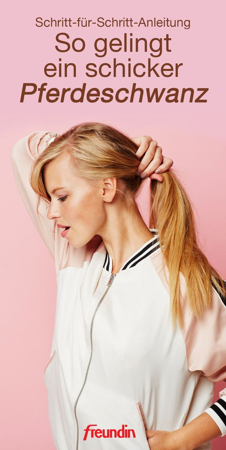 Instructions: How to make a fancy ponytail Perfect for the job or the evening: With our step-by-step instructions in the video you can …