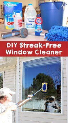 how to clean my own windows
