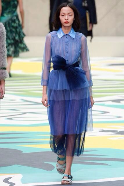 Amazing ombré chiffon from Burberry Prorsum SS 15. It's prim and sexy at the same tome