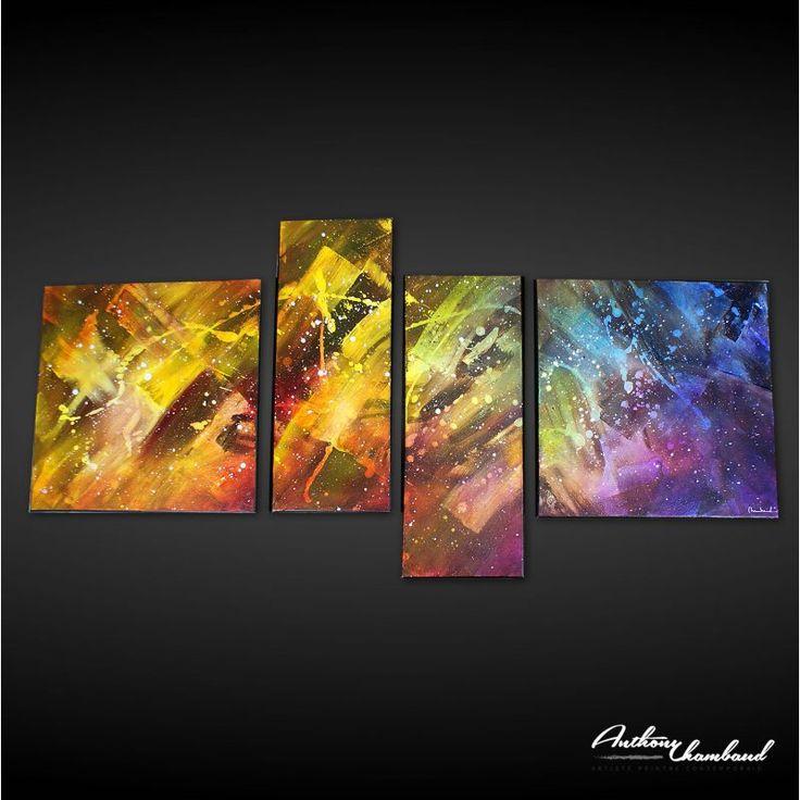Tableau représentant une galaxie abstraite, galaxy abstract.