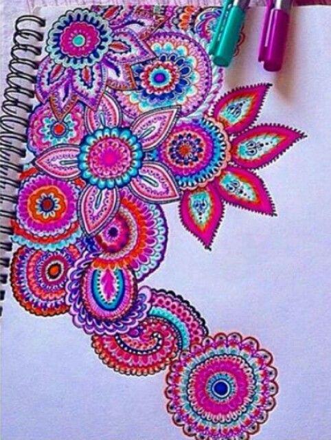 Cute Book Cover Drawing ~ Notebook mandala colors let s diy pinterest mandalas