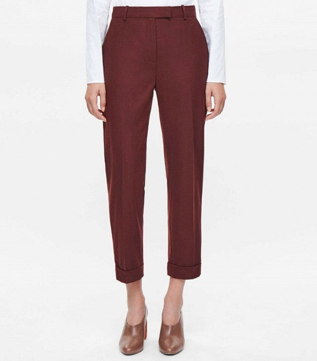 Cos Straight–Leg Wool Trousers