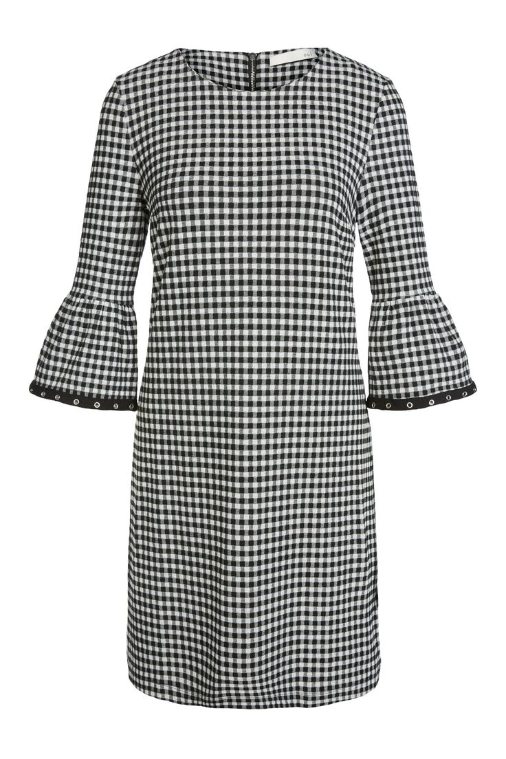 Jersey Kleid - white black - 0061021-0109   Oui Online-Shop