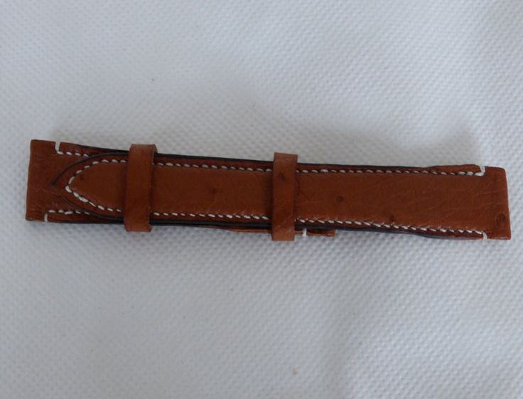 Made to measure Ostrich watch strap by YoudsLeather on Etsy