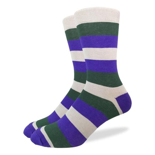 Men's Green & Purple Stripe Socks