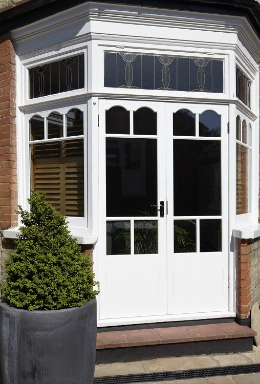 Timber French Door manufactured and installed by The Sash Window Workshop.