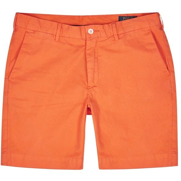 Polo Ralph Lauren Orange Pima cotton shorts ($150) ❤ liked on Polyvore featuring men's fashion, men's clothing, men's shorts, polo ralph lauren mens shorts, mens orange shorts and polo ralph lauren mens clothing