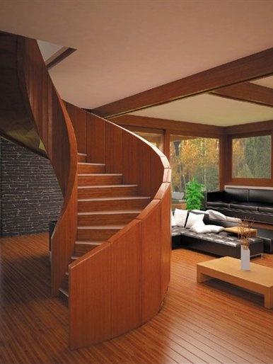 Best Self Supporting Helical Wooden Spiral Staircase Nautilus 640 x 480
