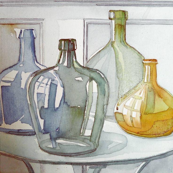 #акварель #стекло #bottle #glass #art #pictureoftheday #instaart #illustration #instagood #mood #aquarelle #watercolor #creative #artist… #art