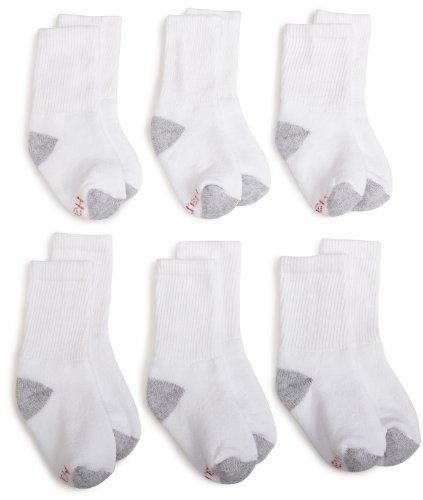 Hanes Boys Classic Crew Sock Hanes. $8.50. Crew length sits mid calf. Machine wash, machine dry. Ultra soft knit